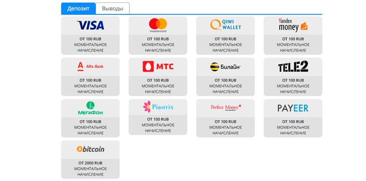 платежные системы Денди